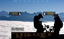 Website für Bikerbahnhof in Mittenwald